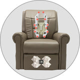 Osaki OLT-C Kneading Massage Lift Chair - Kneading massage on back / waist and calf area