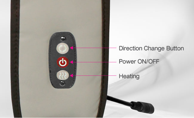 direction change button, power on/off, heating button