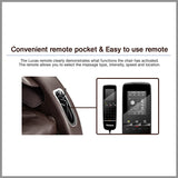 Convenient remote pocket & Easy to use remote