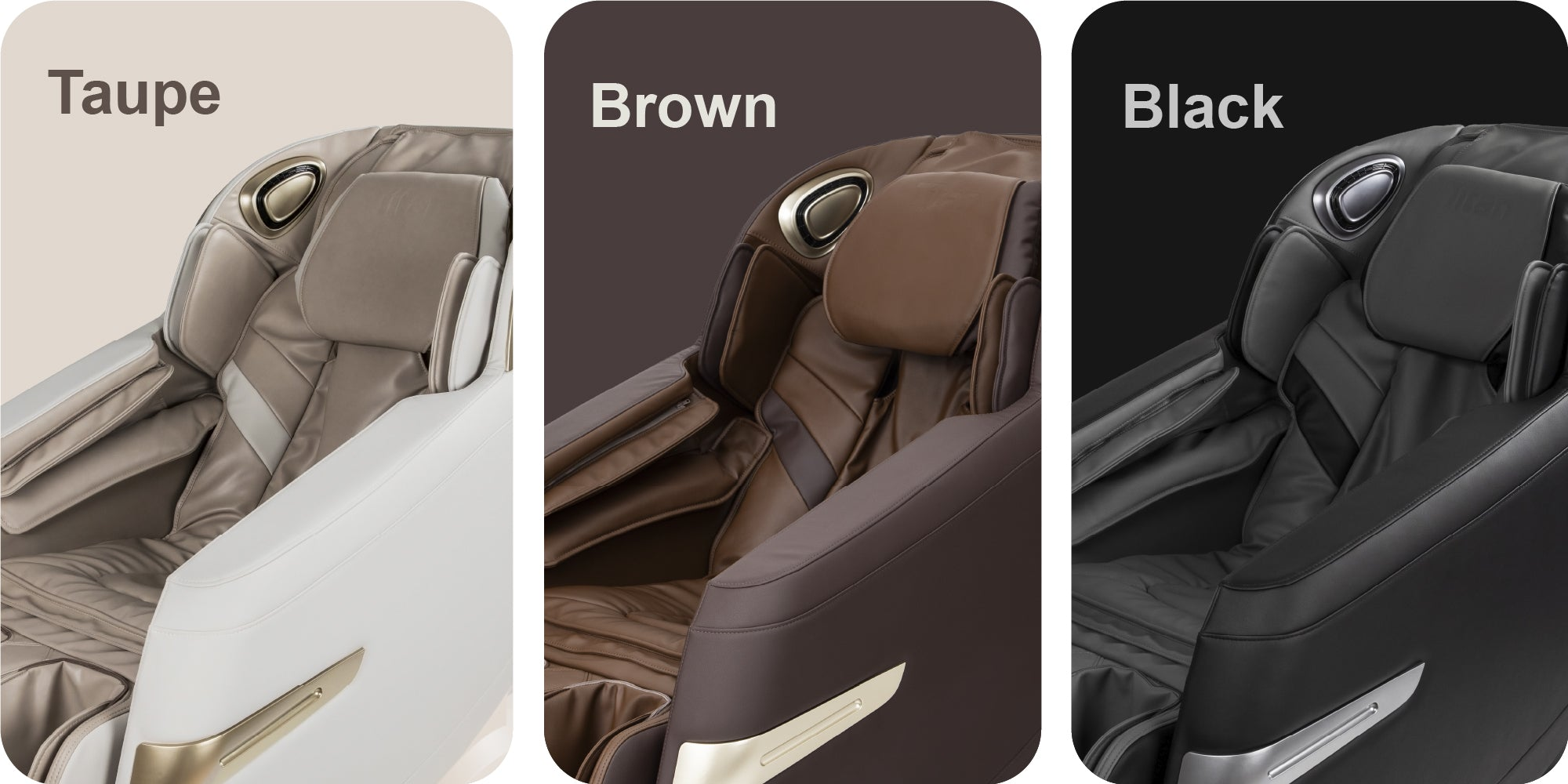 Taupe, Brown and Black colors