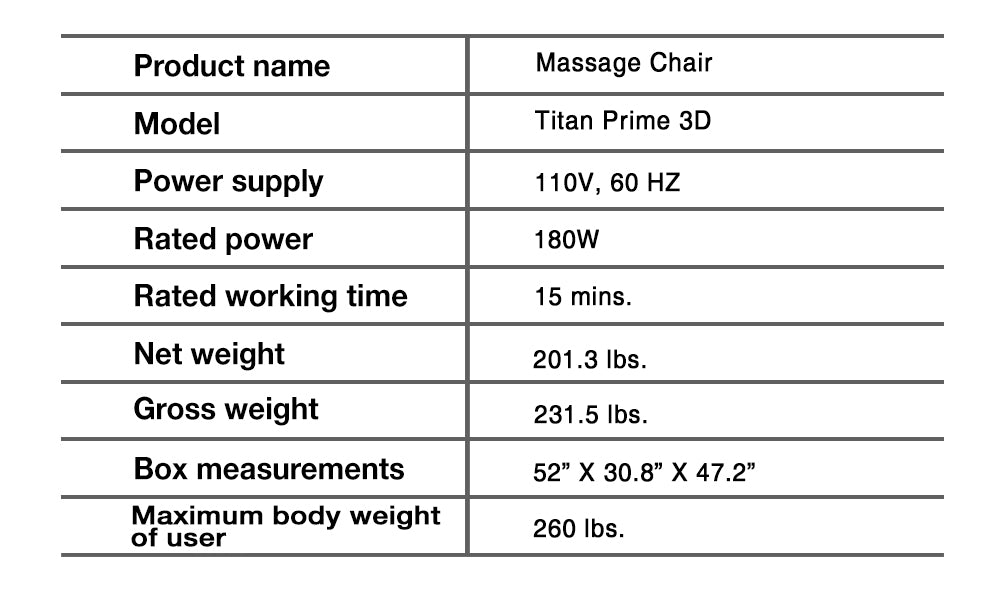 prime 3d specification