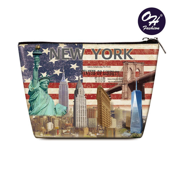 OH Fashion Cosmetic Bag New York - superfashionwholesaler