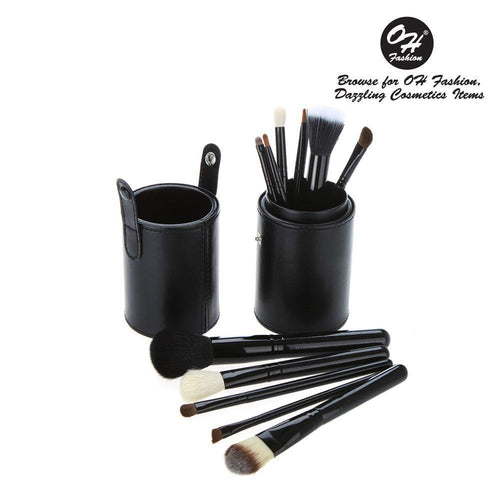 OH Fashion Makeup Brushes Midnight Black - superfashionwholesaler
