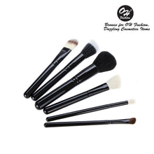 Load image into Gallery viewer, OH Fashion Makeup Brushes Midnight Black - superfashionwholesaler