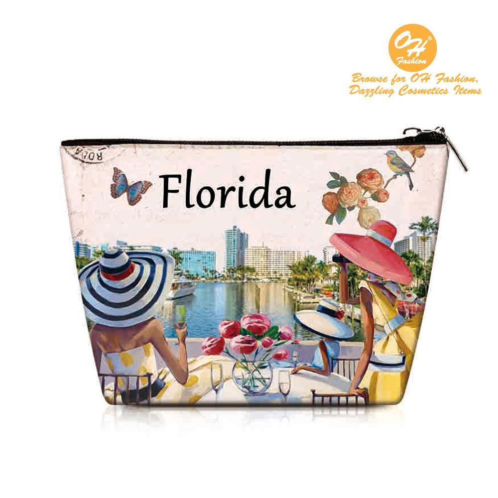 OH Fashion Cosmetic Bag Luxurious Florida - superfashionwholesaler