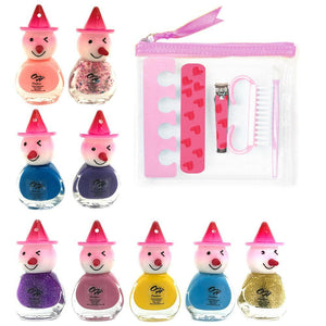 OH Fashion Nail Polish Kit Clown Collection Clown Style 10 PCS - superfashionwholesaler