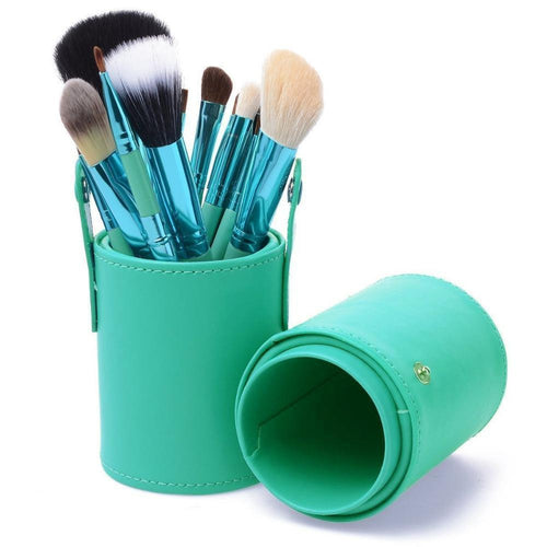 OH Fashion Makeup Brushes Coral Blue - superfashionwholesaler