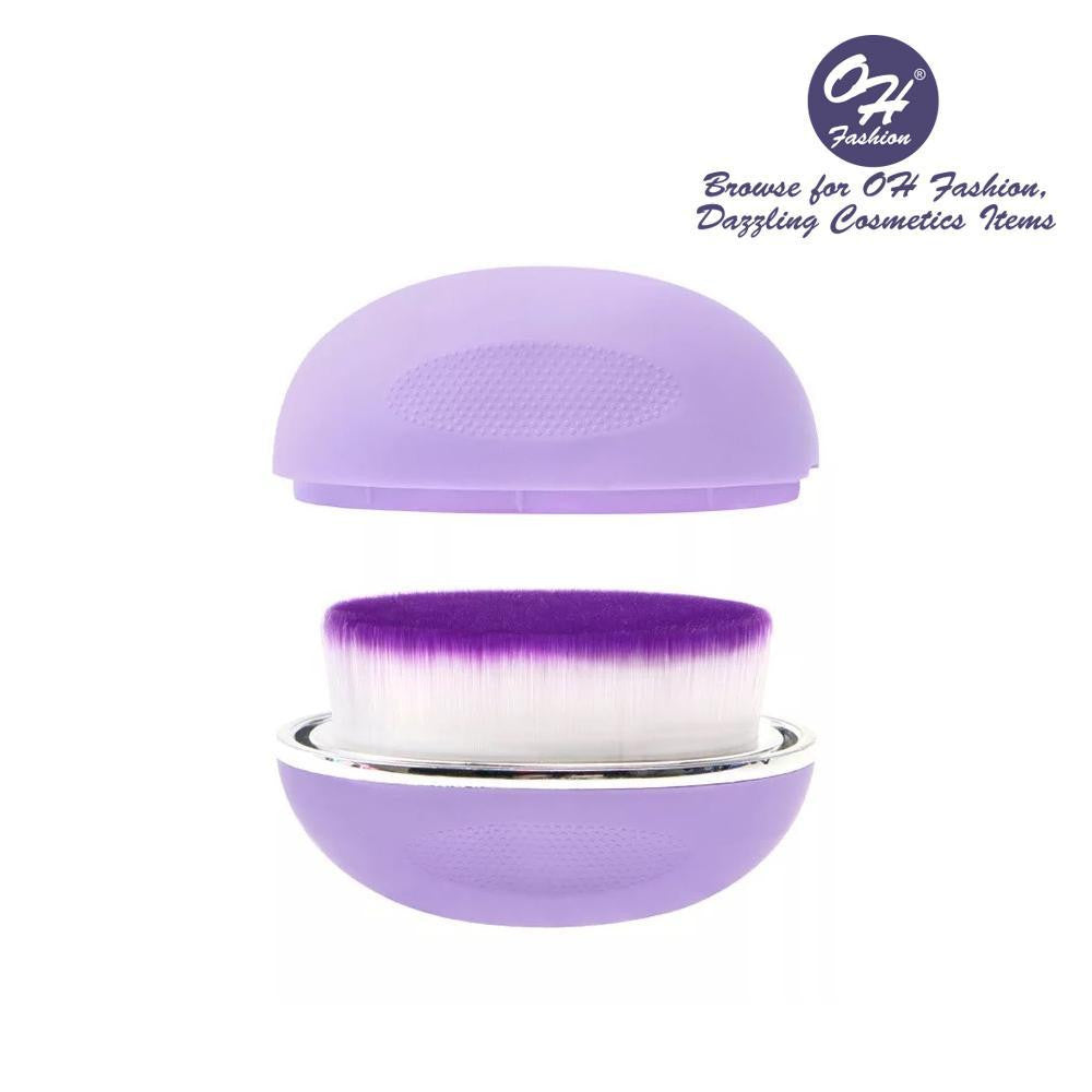 OH Fashion Round Foundation Makeup Brush Violet - superfashionwholesaler