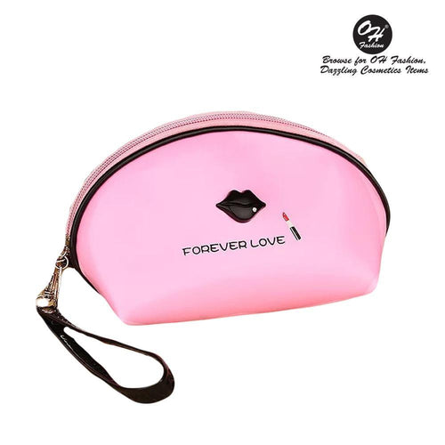 OH Fashion Cosmetic Bag Lipstick Love Cutie in Pink (Small) - superfashionwholesaler
