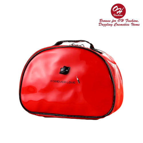 OH Fashion Cosmetic Bag Lipstick Love Ravishing in Red (Large) - superfashionwholesaler
