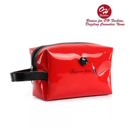 OH Fashion Cosmetic Bag Lipstick Love Ravishing in Red (Medium) - superfashionwholesaler