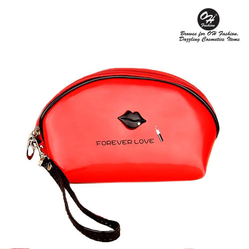 OH Fashion Cosmetic Bag Lipstick Love Ravishing in Red (Small) - superfashionwholesaler