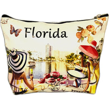 Load image into Gallery viewer, OH Fashion Cosmetic Bag Luxurious Florida