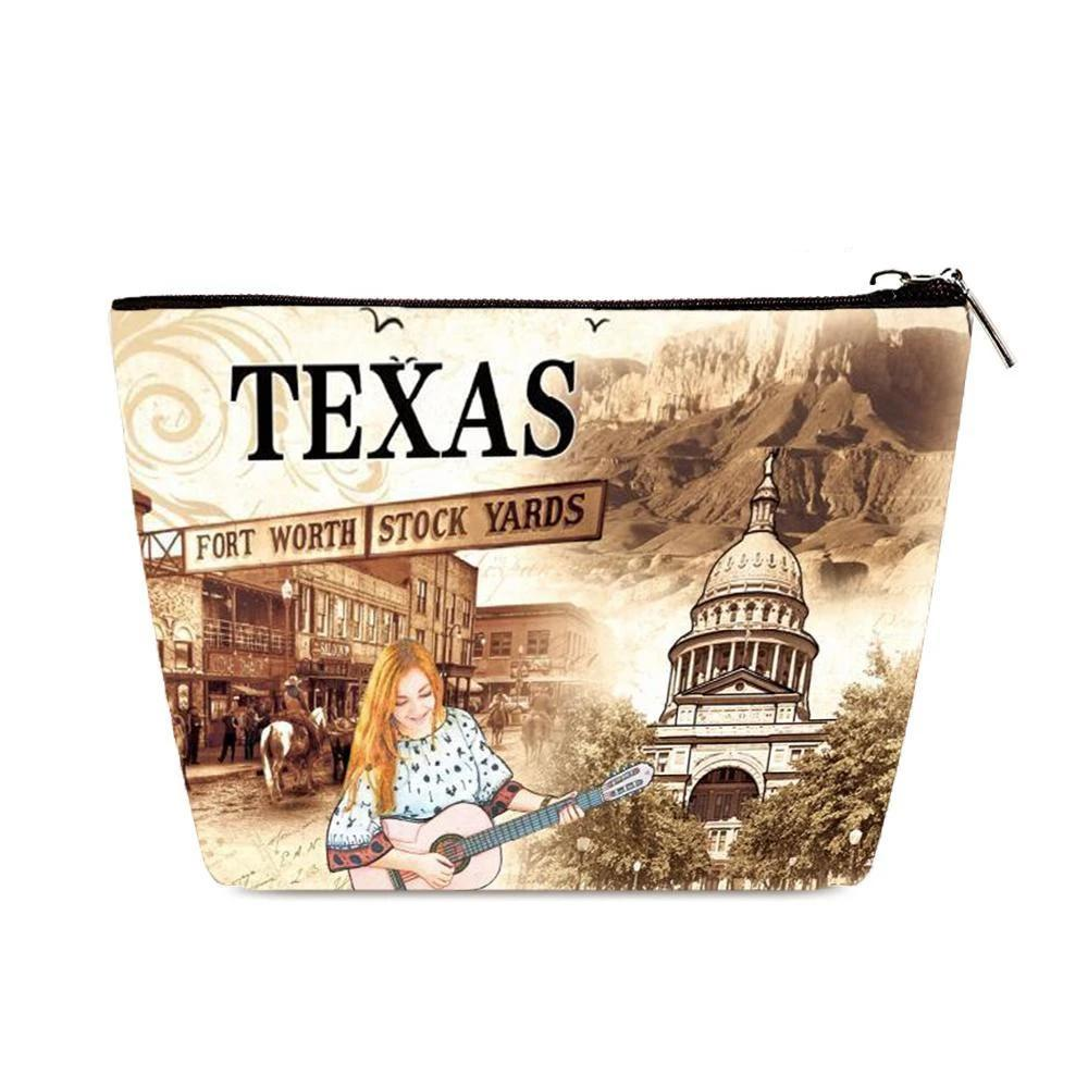 OH Fashion Cosmetic Bag The Beauty of Texas - superfashionwholesaler