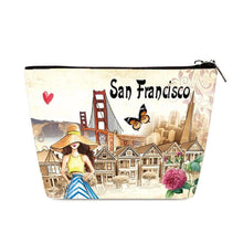 Load image into Gallery viewer, OH Fashion Cosmetic Bag Beautiful San Francisco - superfashionwholesaler