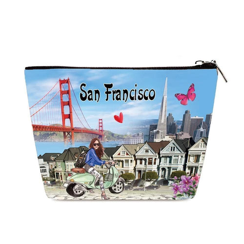 OH Fashion Cosmetic Bag Discover San Francisco - superfashionwholesaler