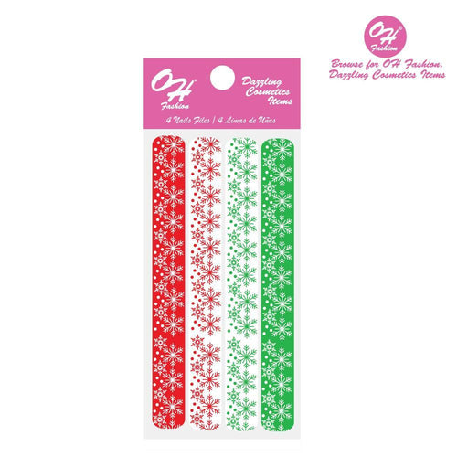 OH Fashion Large Nail Files SetSnow Christmas - superfashionwholesaler