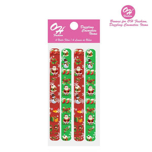 OH Fashion Large Nail Files Set Christmas - superfashionwholesaler
