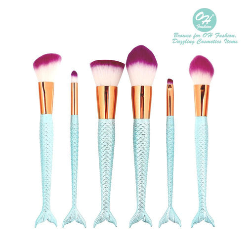 OH Fashion Makeup Brushes Mermaid Coralia - superfashionwholesaler