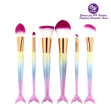 Load image into Gallery viewer, OH Fashion Makeup Brushes Mermaid Melody - superfashionwholesaler