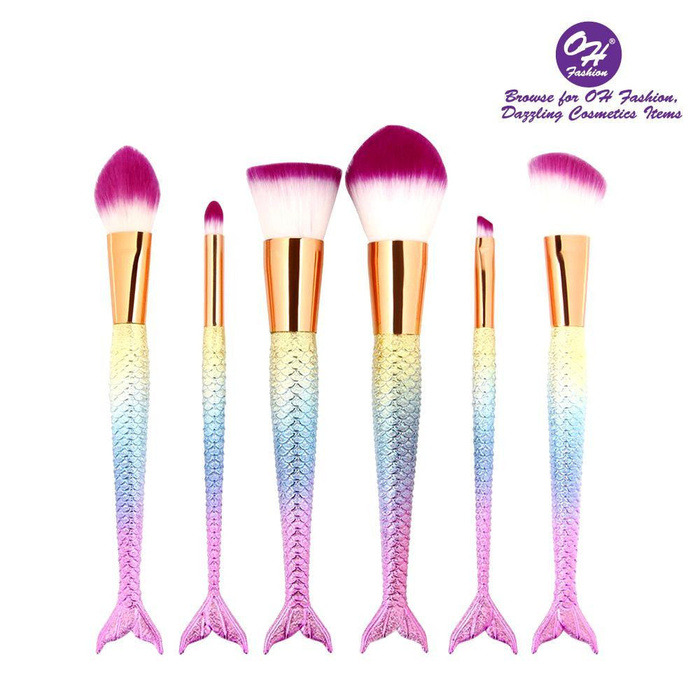 OH Fashion Makeup Brushes Mermaid Melody - superfashionwholesaler