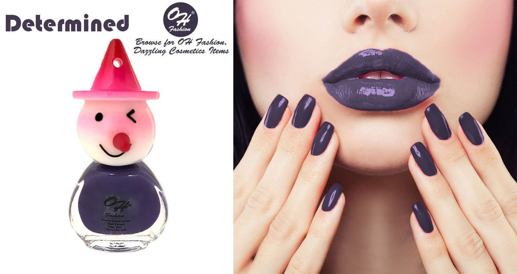 OH Fashion Nail Polish Clown Style Individual DETERMINED - superfashionwholesaler
