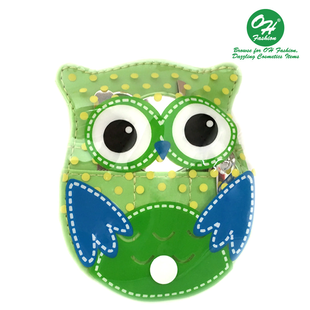OH Fashion Manicure set Owl Green