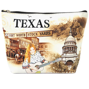 OH Fashion Cosmetic Bag The Beauty of Texas
