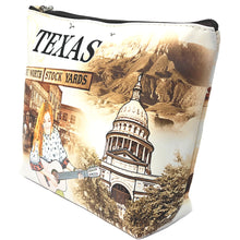 Load image into Gallery viewer, OH Fashion Cosmetic Bag The Beauty of Texas