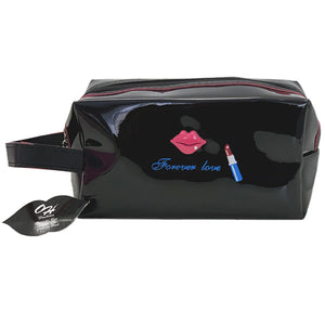 OH Fashion Cosmetic Bag Lipstick Love Captivating in Black (Medium)