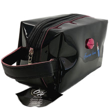 Load image into Gallery viewer, OH Fashion Cosmetic Bag Lipstick Love Captivating in Black (Medium)