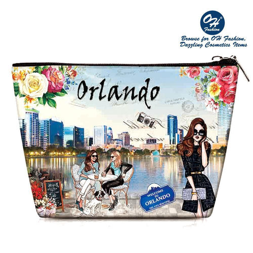 OH Fashion Cosmetic Bag Magnificient Orlando - superfashionwholesaler
