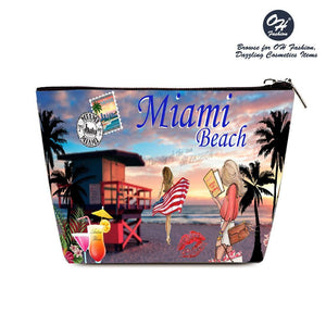 OH Fashion Cosmetic Bag Miami Beach - superfashionwholesaler