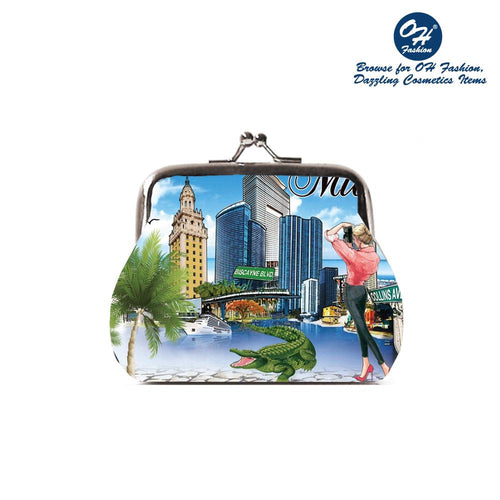 OH Fashion Coin Purse Capturing Miami - superfashionwholesaler