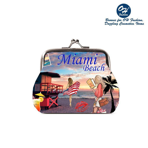 OH Fashion Coin Purse Miami Beach - superfashionwholesaler