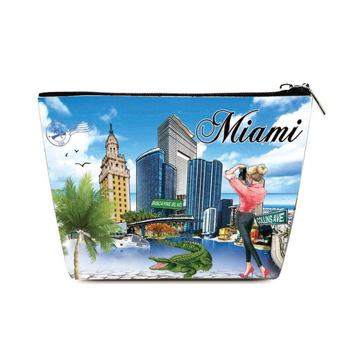 OH Fashion Cosmetic Bag Capturing Miami - superfashionwholesaler