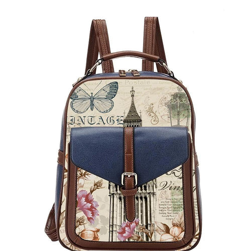 OH Fashion Handbag Backpack European Dream London Blue - superfashionwholesaler