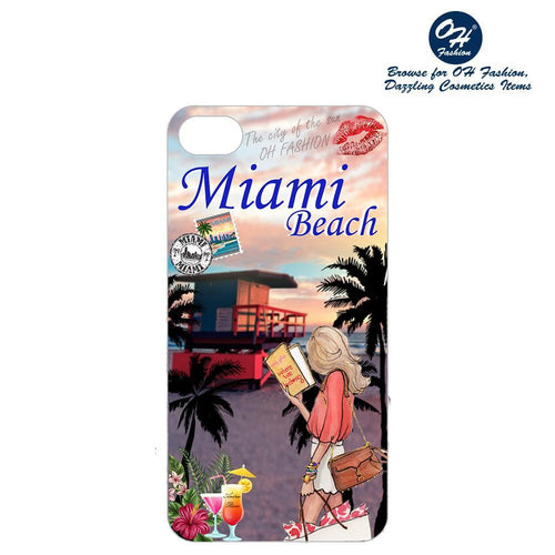 OH Fashion iPhone case PLUS 8/7/6S Miami Beach - superfashionwholesaler