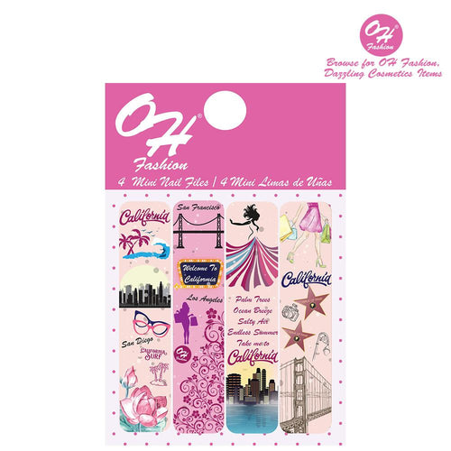 OH Fashion Mini Nail Files California Chic - superfashionwholesaler