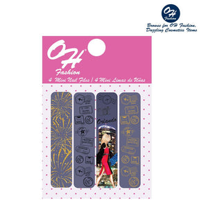 OH Fashion Mini Nail Files Glorious Orlando - superfashionwholesaler