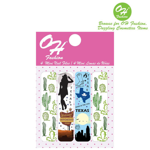 OH Fashion Mini Nail Files Ranger of Texas - superfashionwholesaler