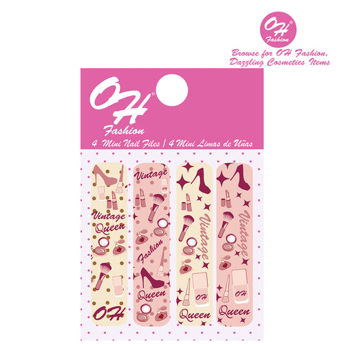 OH Fashion Mini Nail Files Vintage Queen - superfashionwholesaler