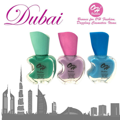 OH Fashion Nail Polish Apple Bite DUBAI SET 3 - superfashionwholesaler