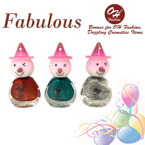 OH Fashion Nail Polish Clown SET FABULOUS - superfashionwholesaler