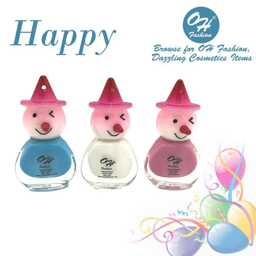 OH Fashion Nail Polish Clown SET HAPPY - superfashionwholesaler