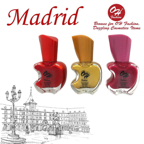 OH Fashion Nail Polish Apple Bite SET MADRID - superfashionwholesaler
