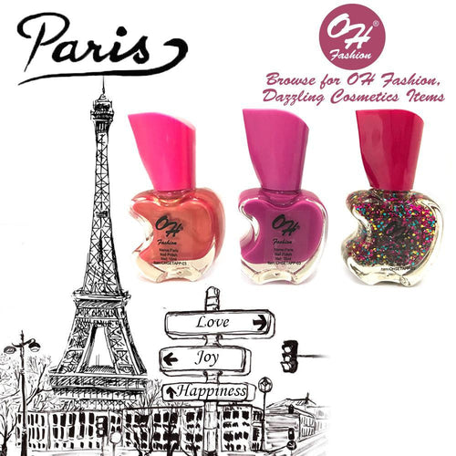 OH Fashion Nail Polish Apple Bite SET PARIS - superfashionwholesaler