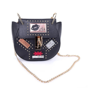 OH Fashion Handbag USA Nights Black - superfashionwholesaler