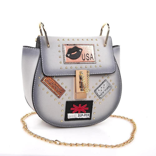 OH Fashion Handbag USA Nights Gray - superfashionwholesaler