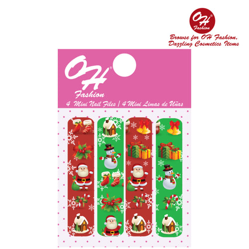 OH Fashion Mini Nail Files Red Christmas 🎄 - superfashionwholesaler